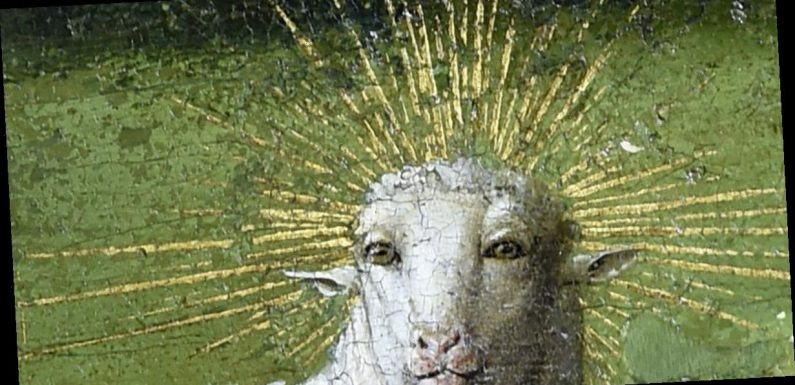Lamb of God restored in world's first oil painting – and it's terrifying