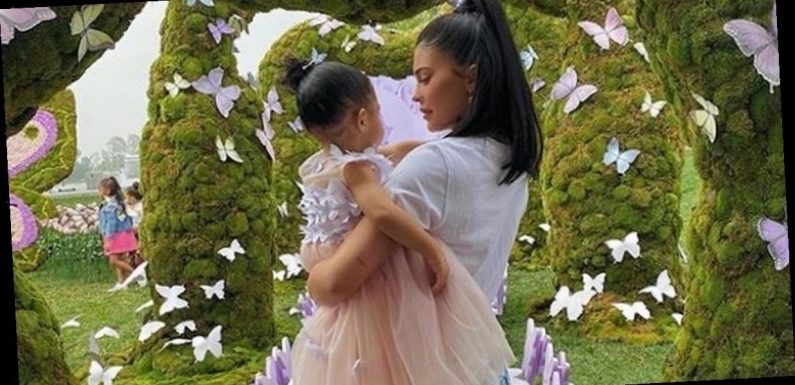 Kylie Jenner cosies up to Stormi as she shares behind-the-scenes party snaps