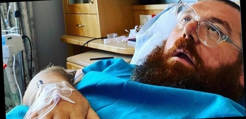 Nick Frost jokes he's having penis reduction as he shares hospital bed selfie