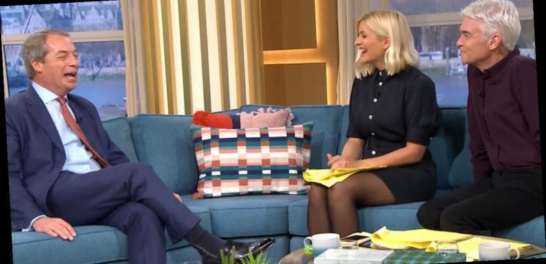Phillip Schofield and Holly Willoughby slammed for 'fawning' over Nigel Farage