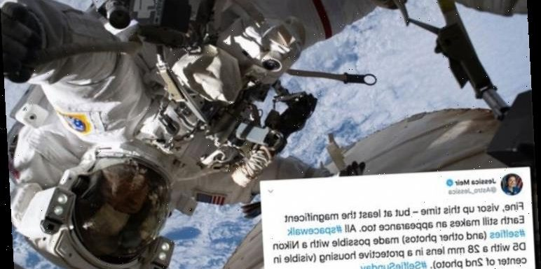 NASA news: This astronaut's space selfies are out of this world  – 'Visor up this time'