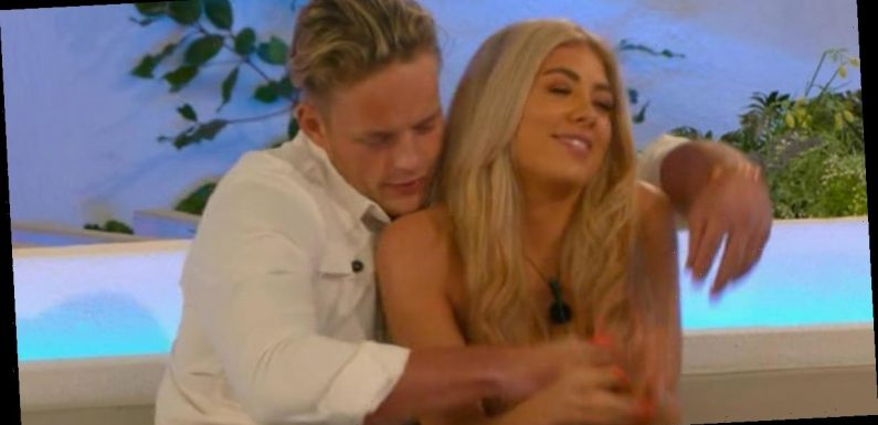 Love Island's Ollie grabs hold of Paige as she uncomfortably squirms before exit