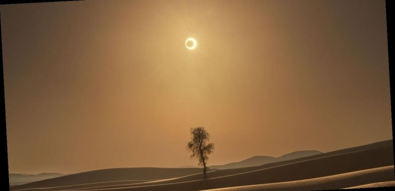 NASA shares stunning photo of 'ring-of-fire eclipse' over desert
