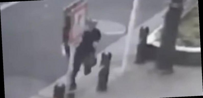 Man 'teleports' onto street in bizarre CCTV footage to spark conspiracy frenzy