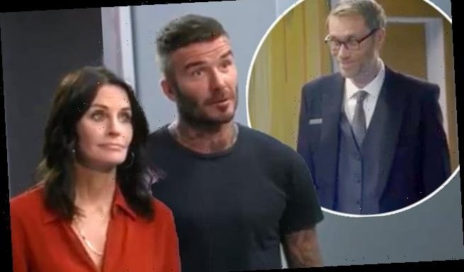 David Beckham shares glimpse at Modern Family cameo with Courteney Cox