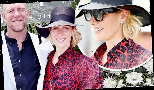 Zara and Mike Tindall appear at the Magic Millions Polo tournament