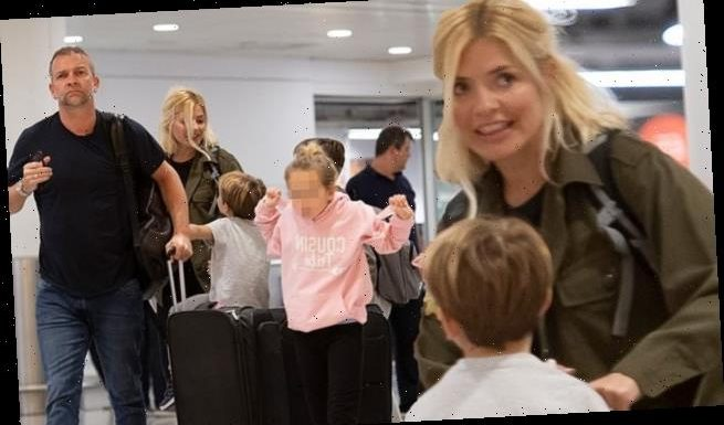 Holly Willoughby touches down in London ahead of Dancing On Ice return