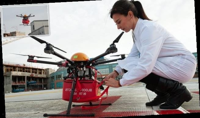 NHS could use DRONES to et life-saving blood kits between hospitals