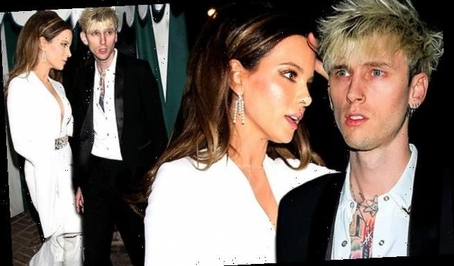Kate Beckinsale leaves Globes afterparty with Machine Gun Kelly