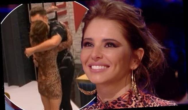Cheryl sends fans wild as she appears to flirt with Curtis Pritchard