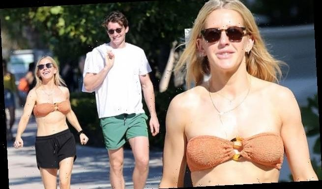 Ellie Goulding shows off toned abs in bikini in Miami