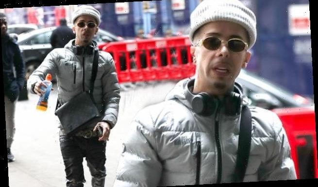 Dappy oozes swagger in low slung jeans as he leaves BBC studios