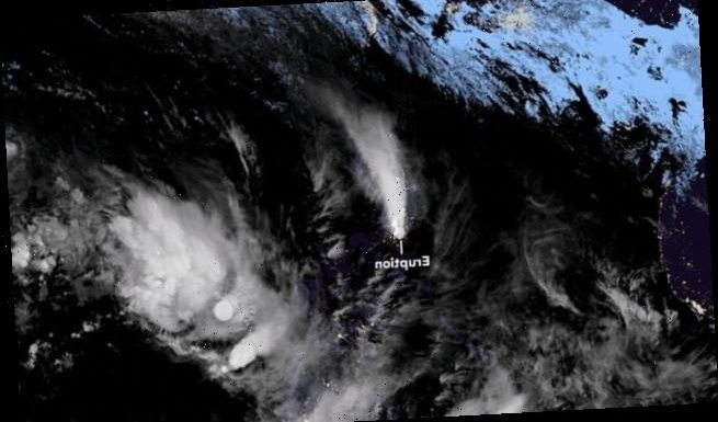 Huge Taal volcano eruption is seen from SPACE by Japan's satellite
