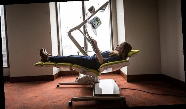 A new desk will let people work while lying flat on their backs