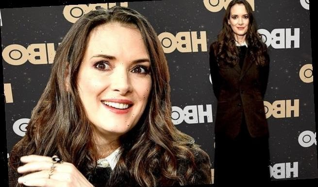 Winona Ryder covers up her petite frame with Plot Against America cast