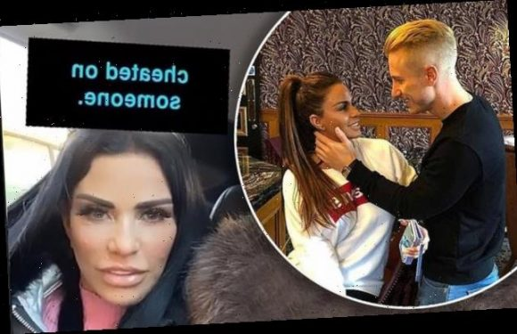 Katie Price uncomfortable as she's asked if she's cheated on anybody
