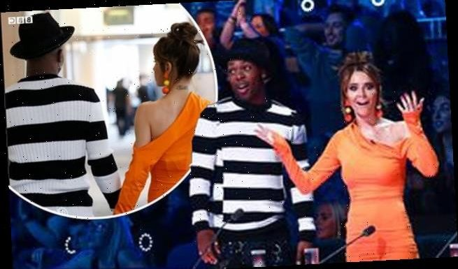 Cheryl flaunts curves in orange bodycon dress on The Greatest Dancer