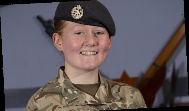 First female to join RAF's infantry unit since ban was lifted