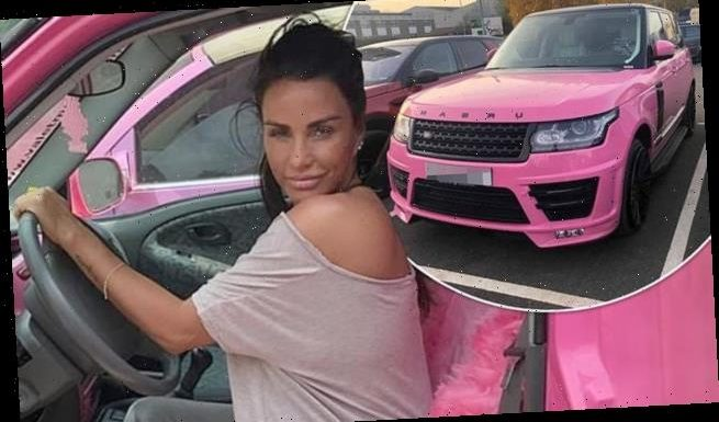 Bankrupt Katie Price's pink Range Rover is slashed by £10k
