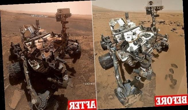 Before and after pics reveal Curiosity's rocky seven years on Mars