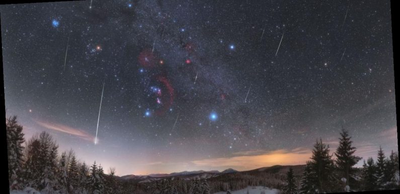 NASA shares stunning photo of Quadrantid Meteors flying through Orion