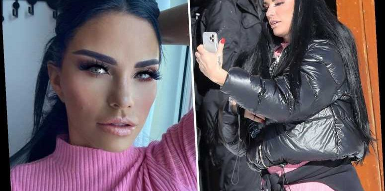 Katie Price snaps selfies in French Alps after fans accuse her of photoshopping 'no filter' image