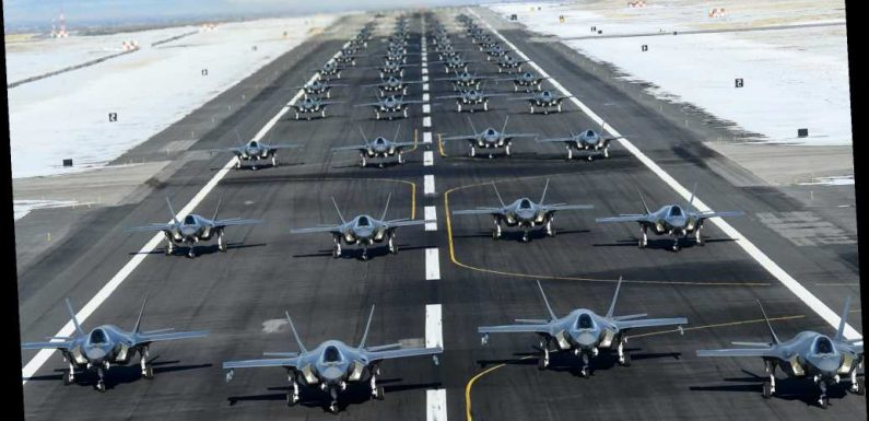 US Air Force launches 52 fighter jets in Utah training exercise