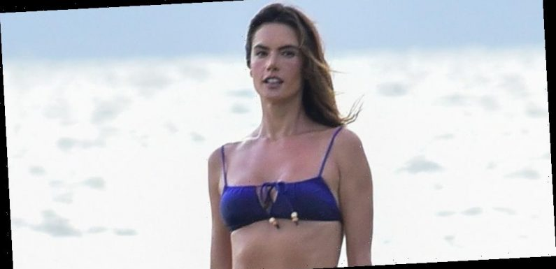 Alessandra Ambrosio Poses in a Bikini for Her New Collection Photoshoot in Brazil