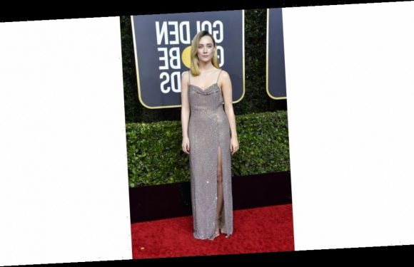 Just Some Photos of Saoirse Ronan Literally Dazzling on the Golden Globes Red Carpet