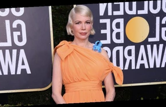 Michelle Williams Shows Off Baby Bump In Peachy Dress At 2020 Golden Globes