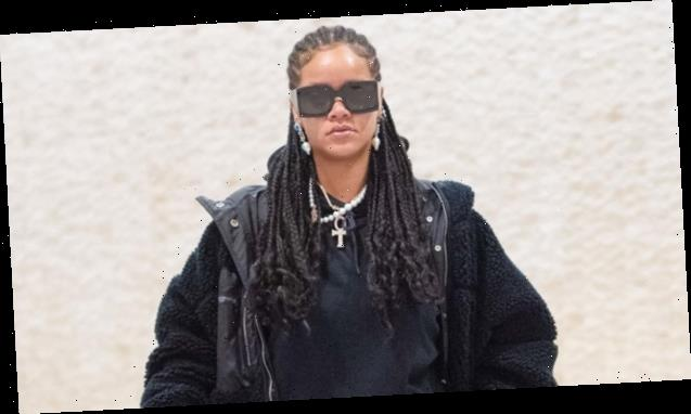 Rihanna Looks Fierce While Pairing Sweats With Sparkly Heels At The Airport — Pics