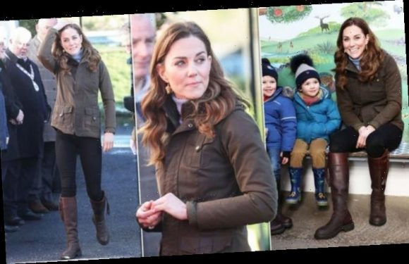 Kate Middleton epitomises country chic in jeans and favourite knee-high boots