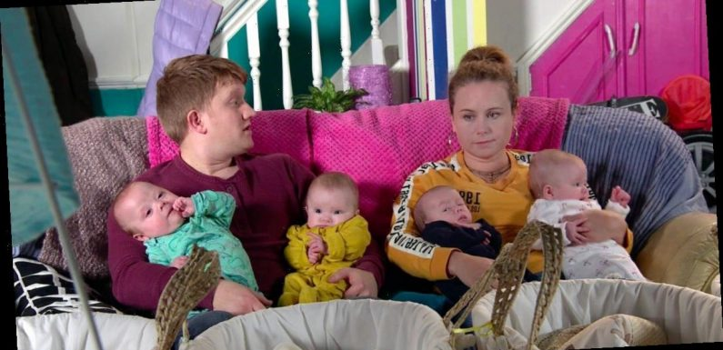 Corrie filming 'thrown into chaos' as eight crying babies cause 'nightmare'