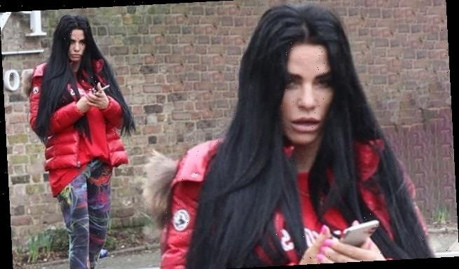Katie Price EXC: Star looks slightly dishevelled outside The Priory