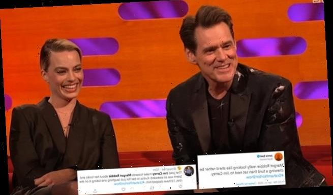 Jim Carrey BLASTED for joking Margot Robbie's success is down to looks
