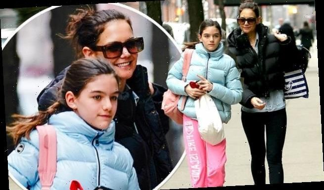 Katie Holmes and Suri Cruise bundle up while out in NYC