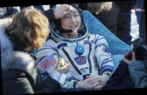 Record-setting astronaut feels great after near year in space