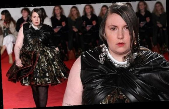 Lena Dunham makes catwalk debut for the 16Arlington show during LFW