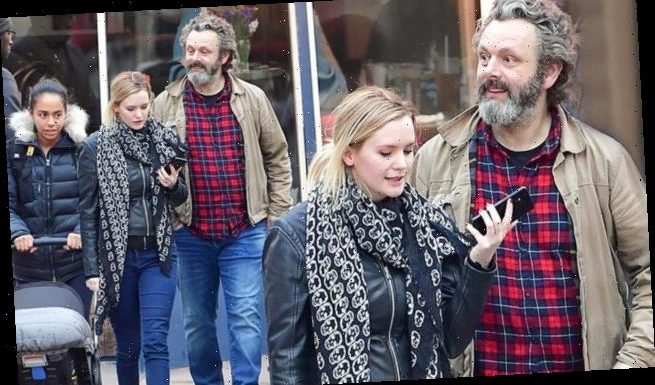 Michael Sheen, 50, Anna Lundberg, 25, and Lyra, step out in NYC