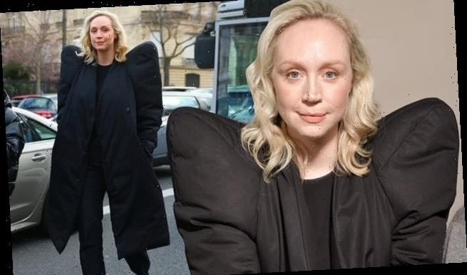 Gwendoline Christie accentuates her frame in BIZARRE wing-like jacket