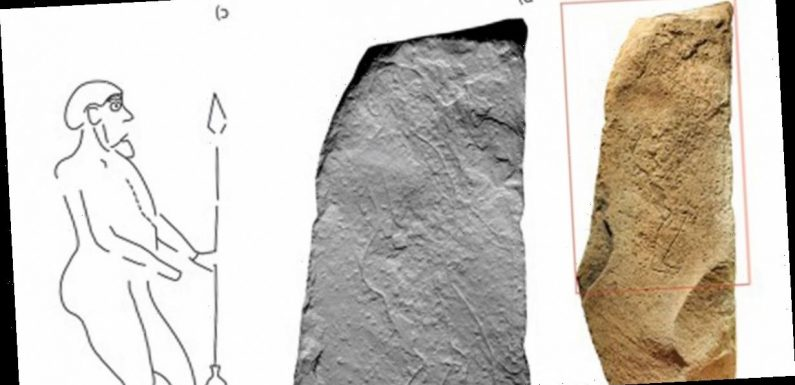 Mysterious engraving of warrior with 'pronounced bum' found on Pictish stone