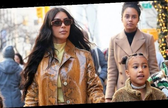 Kim Kardashian Makes Kissy Face Next To Daughter North West, 6, During 'School Drop Off' — Cute Pic