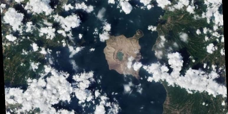 NASA satellite images show Philippine island COVERED in ash following Taal eruption