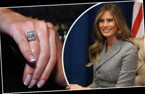 Melania Trump: One of the 'most expensive celebrity engagement rings' is worn by FLOTUS
