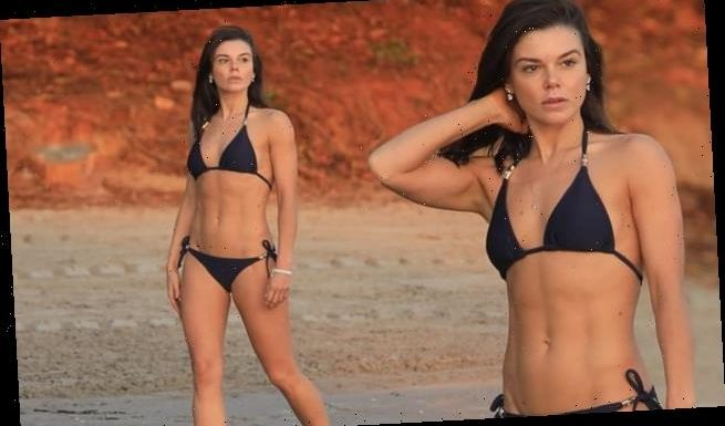 Faye Brookes showcases her incredibly toned physique in Bermuda
