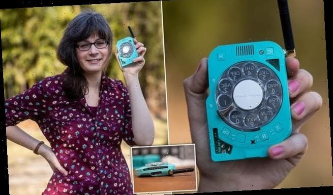 Space engineer builds a mobile phone with an old-school ROTARY DIAL