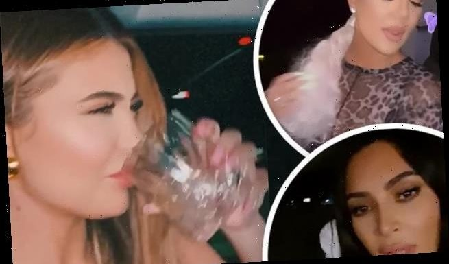 Kylie has wild night out with Khloe as their sisters remain 'saints'
