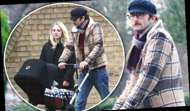 David and Georgia Tennant take fifth child Birdie out for a stroll