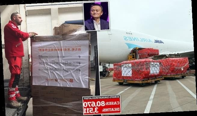Millions of masks donated by Jack Ma arrive in coronavirus-hit Europe