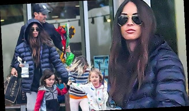 Megan Fox, 33, rare sighting with Brian Austin Green, 46, and 3 sons